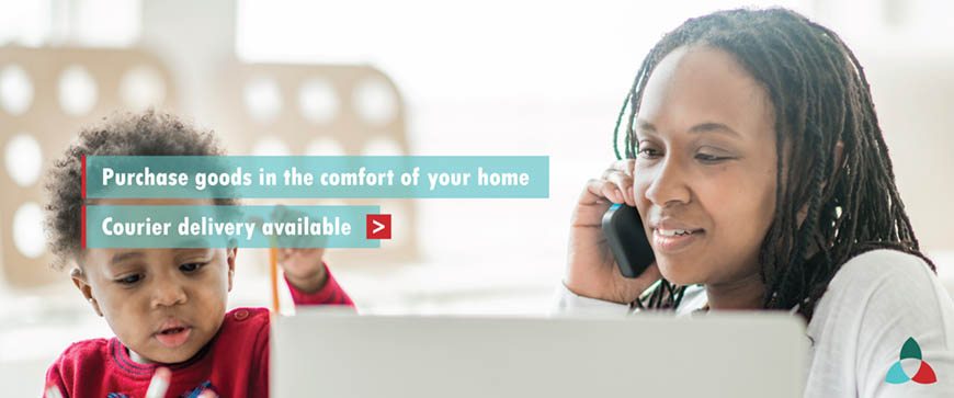 Purchase goods in the comfort of your home