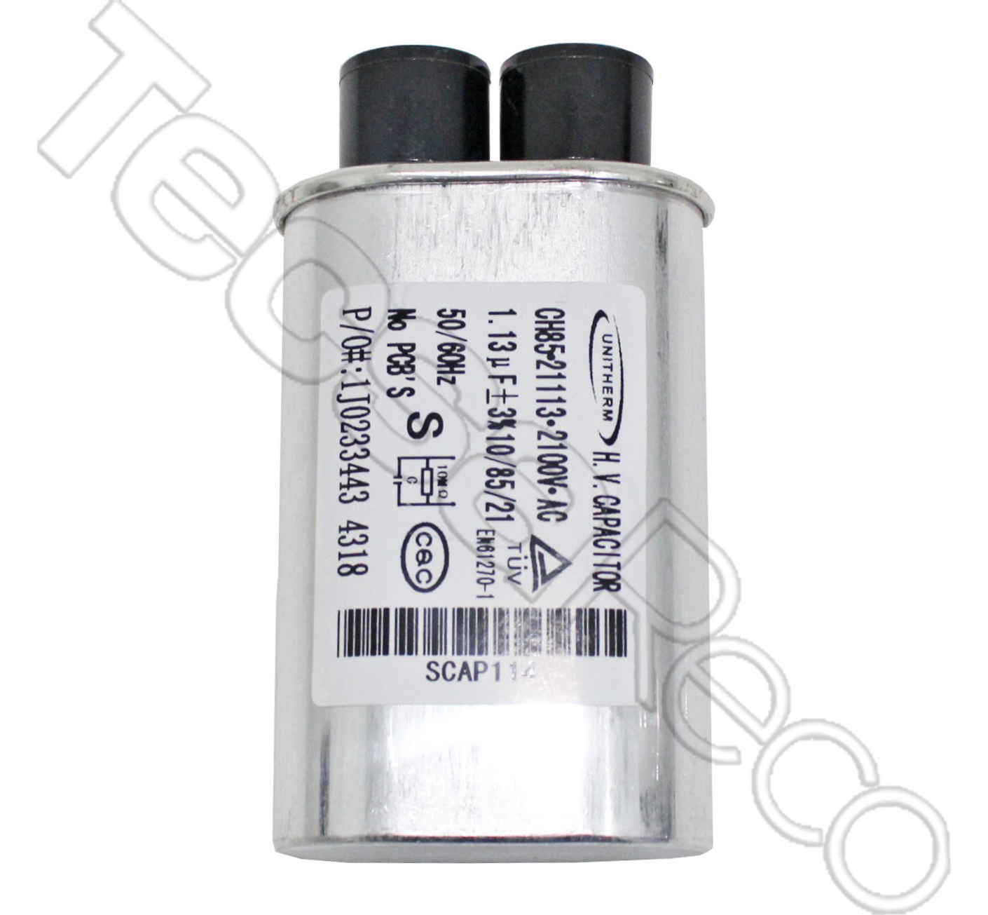 High Voltage Capacitor 1.13Mfd - 2100V